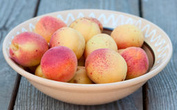 Apricots on plate. Stock Images