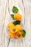 Apricots on the plate Royalty Free Stock Images