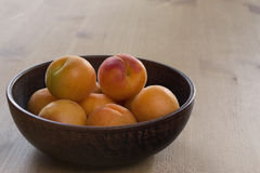 Apricots. In a plate stock photo