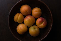 Apricots. In a plate royalty free stock photography
