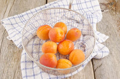 Apricots are prepared to make jam Stock Photography