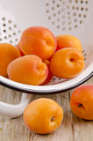 Apricots are prepared to make jam Royalty Free Stock Images