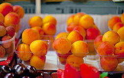 Apricots for sale Stock Photo