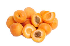 Apricots stack Stock Image