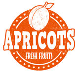 Apricots stamp Royalty Free Stock Photography