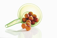 Apricots in strainer Royalty Free Stock Images