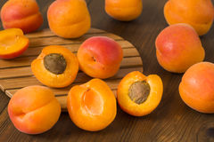 Apricots on table Stock Images