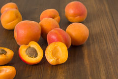 Apricots on table Royalty Free Stock Photography