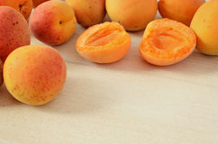 Apricots on the table Stock Photography