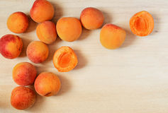 Apricots on the table Royalty Free Stock Photos