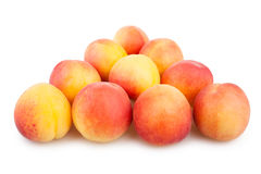 Apricots triangle group Stock Photography