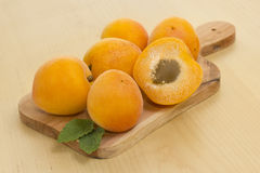 Apricots. Useful fruit for a breakfast Stock Images