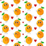 Apricots, vector seamless pattern Stock Photography