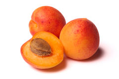 Apricots on white Royalty Free Stock Images