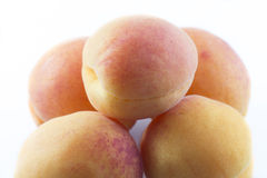 Apricots on white backgroun Royalty Free Stock Photography