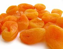 Apricots on white background Royalty Free Stock Images