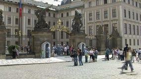 Apriete el lapso de tiempo en el castillo de Praga, Praga almacen de metraje de vídeo
