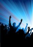 Apriete en un concierto Foto de archivo libre de regalías
