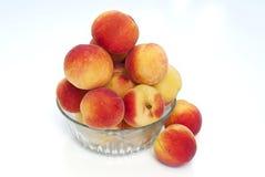 Aprikors i den glass bunken Royaltyfria Foton