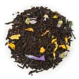 Aprikos och persika för svart te Arkivbilder