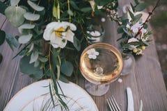 Aprikosblomma i exponeringsglaset Royaltyfria Foton