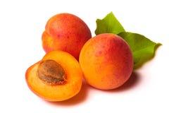 Aprikosen auf Weiß Lizenzfreies Stockfoto