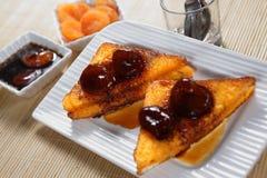 Aprikosen-französischer Toast stockfotografie
