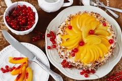 Aprikosen-Kuchen Lizenzfreies Stockfoto