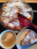 Aprikosen-Kuchen Lizenzfreies Stockbild