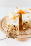 Aprikosen-Sahne-Kuchen Stockbild