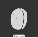 Aprikosenikone für Netz und Mobile Stockbild