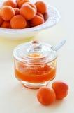 Aprikosenmarmelade Stockfoto