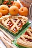 Aprikosentörtchen Lizenzfreies Stockbild
