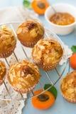 Aprikosmuffin med skivade mandlar Royaltyfria Bilder