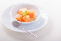 Aprikossorbet med mintkaramellen Royaltyfria Foton