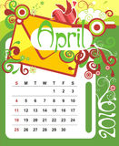 April Stockbild