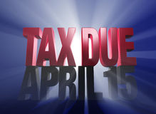 April 15, Tax Due Royalty Free Stock Photo