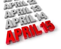 April 15th att närma sig Royaltyfri Bild
