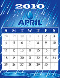 April 2010. Vector Illustration of 2010 Calendar with a monthly, I have all 12 months designed separately or all 12 months in a single design royalty free illustration