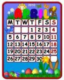 April 2010 Kalender Royalty-vrije Stock Afbeeldingen