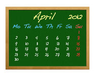 April 2012. Illustration of Calendar 2012, April Stock Images