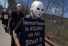 April 2012 protest at VT Yankee Nuclear Royalty Free Stock Image