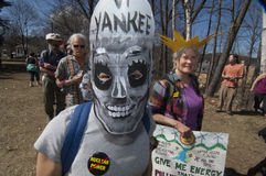 April 23 2012 protest at VT Yankee Nuclear Royalty Free Stock Image