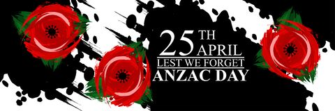 Free April 25, `Lest We Forget`. Happy Anzac Day Vector Illustration. Royalty Free Stock Photography - 215725897