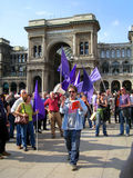 April 25, Liberation Day parade in Milan. Italy, Stock Photography