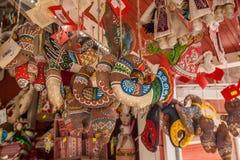 КИЕВ, УКРАИНА - APRIL11: Сувенирный магазин на фестивале пасхи Стоковое Фото