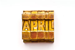April Royalty Free Stock Photo