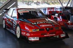 21 April 2018: Alfa Romeo 155 het ex die DTM Kampioenschap van V6Ti 1995 bij het Festival 2018 van de Motorlegende in Imola Circu royalty-vrije stock foto's