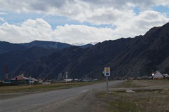 April in Altai  Stock Foto's