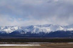 April in Altai  Stock Afbeeldingen
